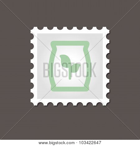 Fertilizer stamp. Outline vector illustration