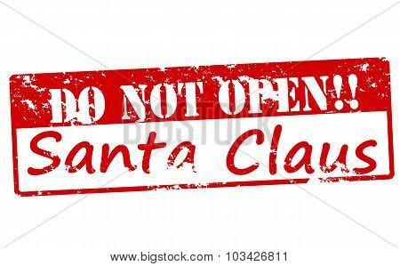 Do Not Open Santa Claus
