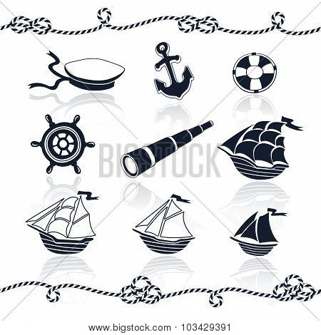 Nautical objects set