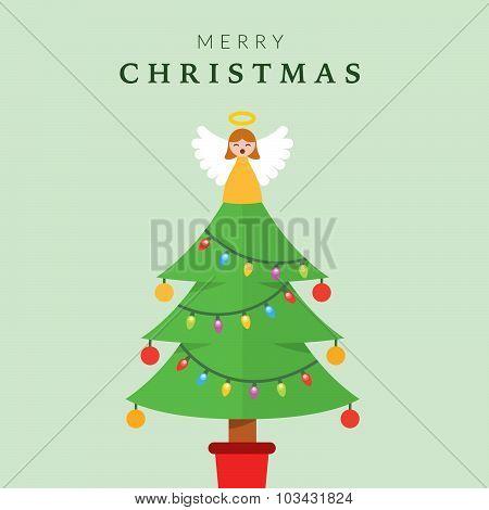 Christmas Tree with Angel