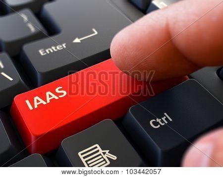 IAAS - Written on Red Keyboard Key.