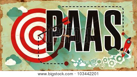 PAAS Word on Poster in Grunge Design.