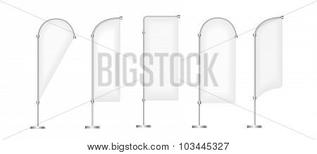 Flag vector blank banner stand display, Marketing and canvas, set of promotion banners