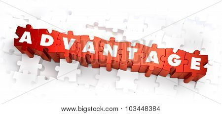 Advantage - White Word on Red Puzzles.