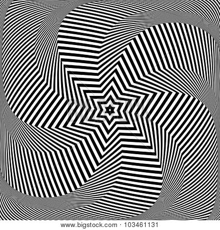 Torsion and rotation movement. Vector art.