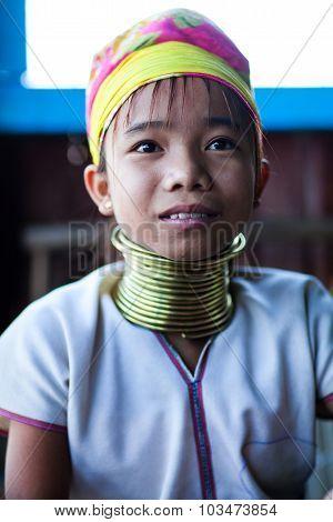 Padaung Tribal Girl, Myanmar