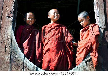 Novice Monks. Myanmar