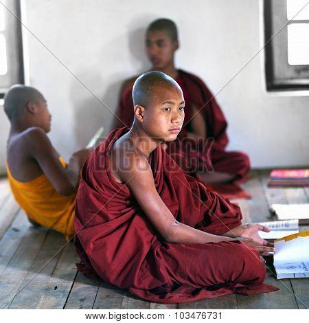 Novice Monks, Myanmar