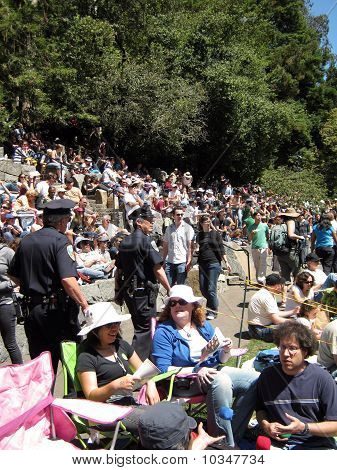 San Francisco Police Officers Patrol At Outdoor Concert At Stern Grove