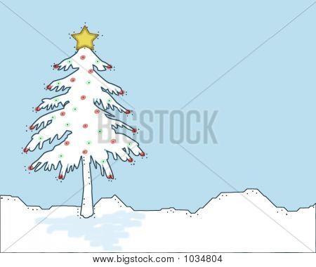 Christmas Tree On Lt Blue