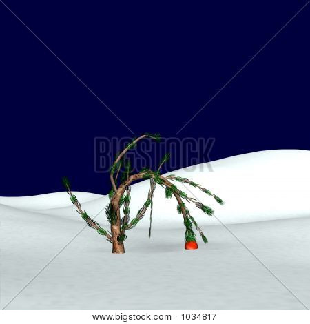 Charlie Brown Style Christmas Tree 2