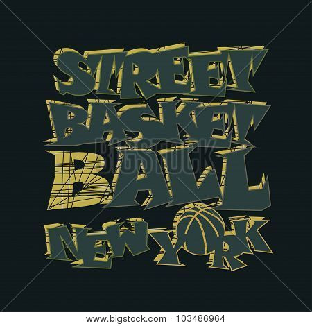 Basketball t-shirt graphic design. New York
