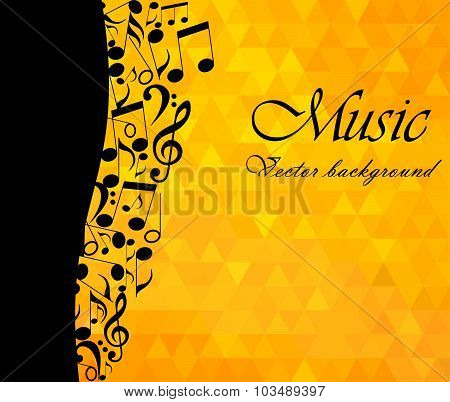 Music Backgound, musical notes - vector illustration