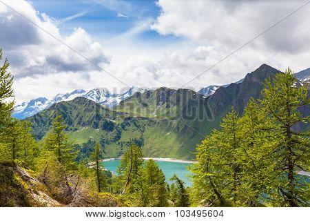 Lake Of Ritom In Ticino, Switzerland