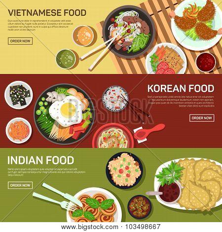 Asian street food web banner