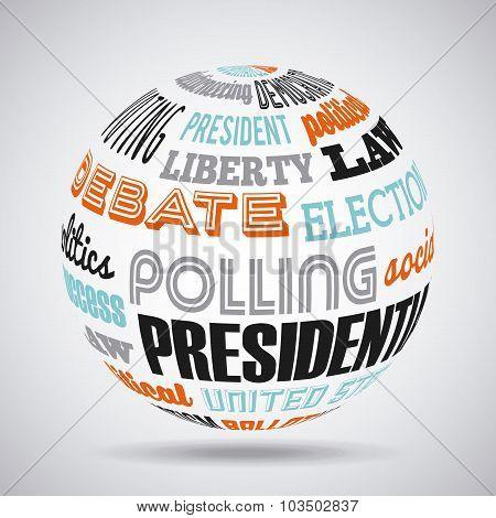 democratic election design, vector illustration eps10 graphic poster