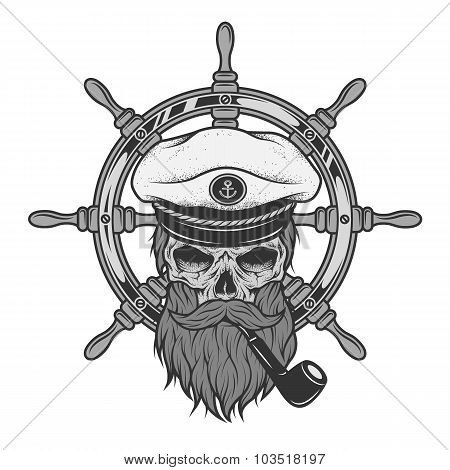 Captain Skull and sea helm.