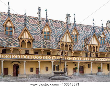Polychrome Roof Of The Hospices De Beaune.