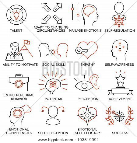 Vector Set Of 16 Icons Related To Business Management - part 20