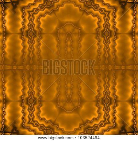Seamless wavy pattern golden brown metallic