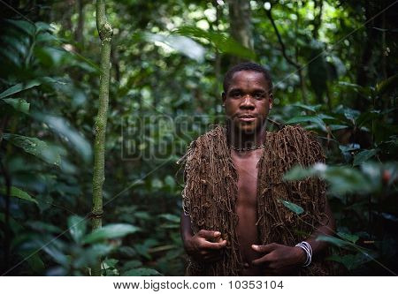 Hunter Of A Tribe Of Pygmies.