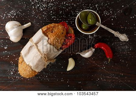 Sandwich With Dried Tomatoes