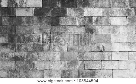 Background Of Old Brick Texture On Black And White