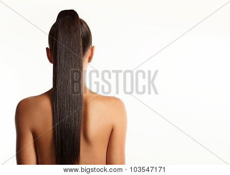 Women With A Long Stright Pony Tail