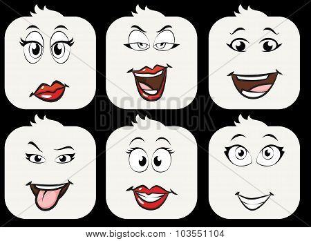 Smilies Girls-emoji