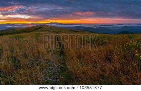 Spectacular Sunrise In The Blue Ridge Mountains