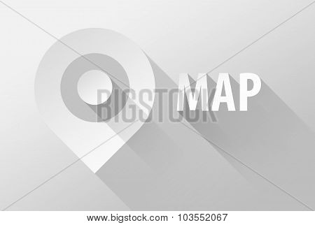 Map tag location pin icon and widget 3d illustration flat design poster