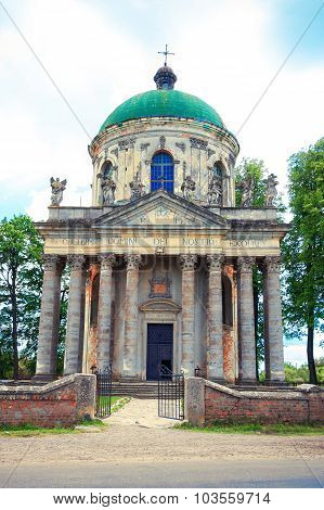Roman Catholic church of the Exaltation of the Holy and St. Joseph near Lviv, Ukraine. Time of construction 1752-1766