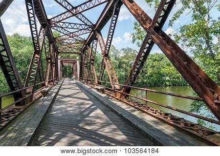 Rail Trail Steel-Truss Bridge in Upstate NY.