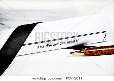 Last Will And Health Care Directive With Pen