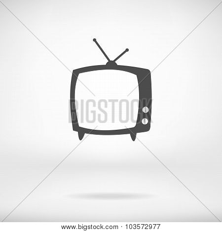 Tv Vector Icon In Interior