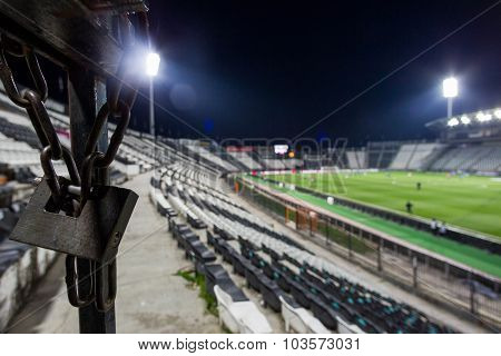 Locket At Toumba Stadium During Team Practice In Thessaloniki, Greece. Image With Shallow Depth Of F