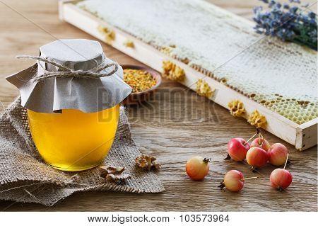 Honey Jar And Dwarf Apples