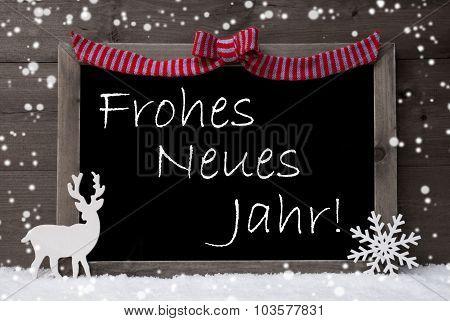Gray Christmas Card, Snowflakes, Loop, Neues Jahr Mean New Year