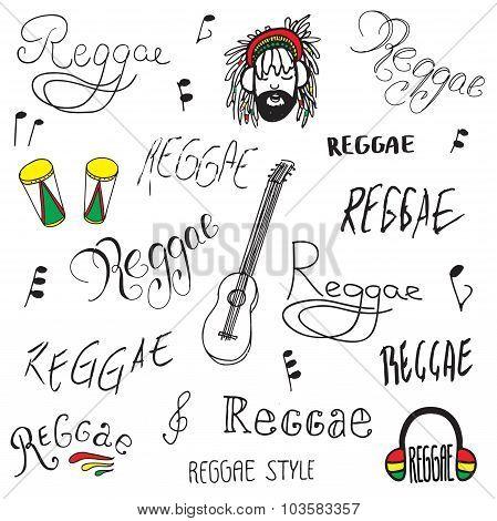 reggae lettering