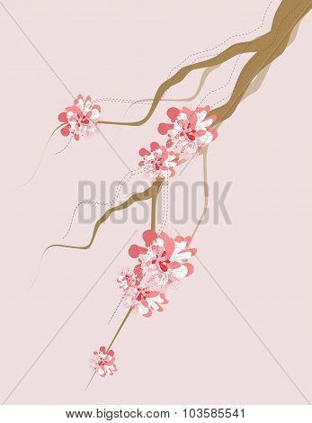 Artistic Tree Branch And Blossom