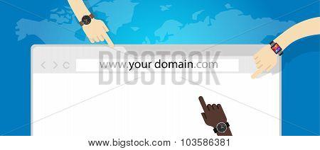 domain name web business internet concept url