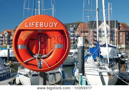 A Lifebouy In A Marine