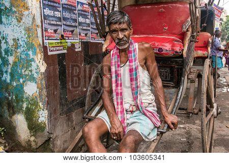 Portrait Of A Rickshaw Wallah