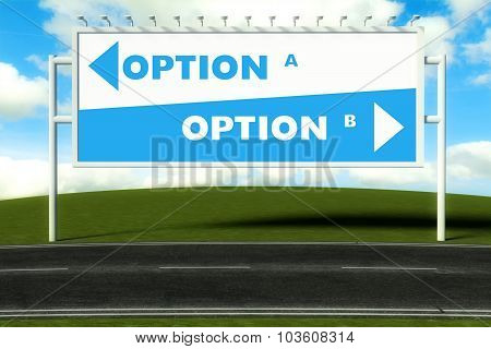 Conceptual Direction Signs Lead To Option A Or Option B