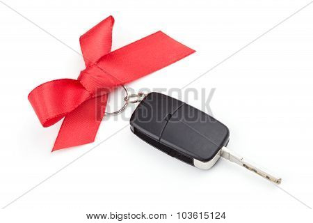 Car Keys With Red Bow