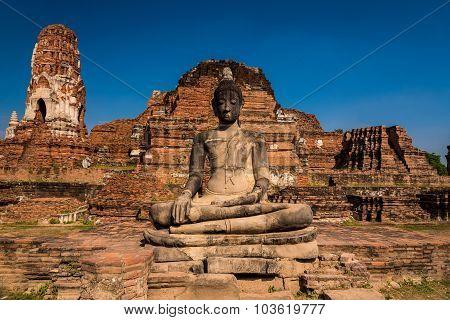 Buddha In Wat Mahathat, Ayuttaya