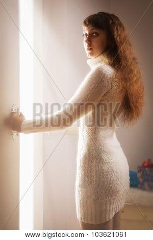 Girl Opens A Magic Door