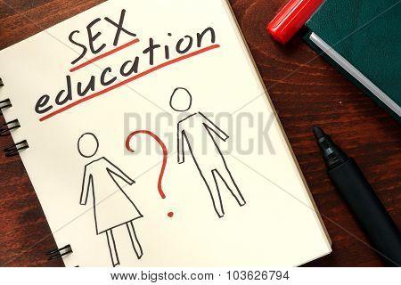 Words written sex education.