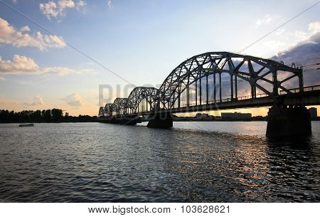 Railway-bridge In Riga