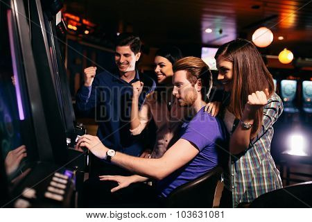Young People In The Casino